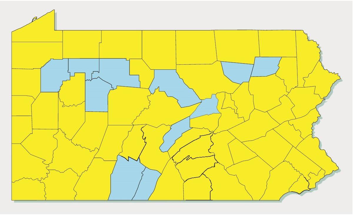 Statewide coronavirus map