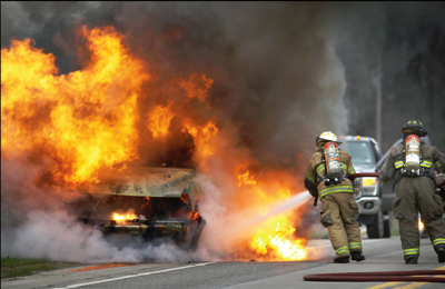 Vehicle fire on Route 322