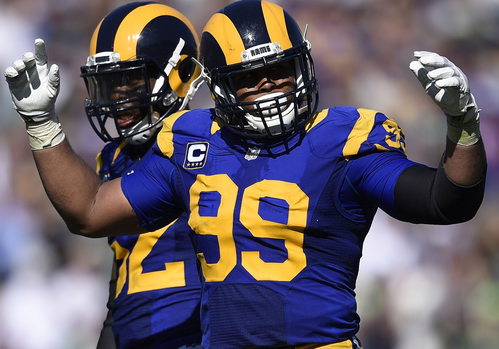 Aaron Donald Reports To Rams