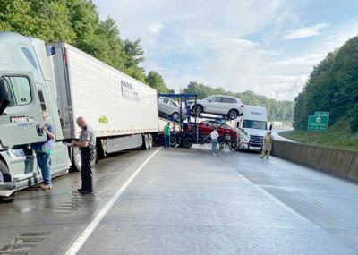 Emlenton pileup involved 5 rigs, 3 other vehicles