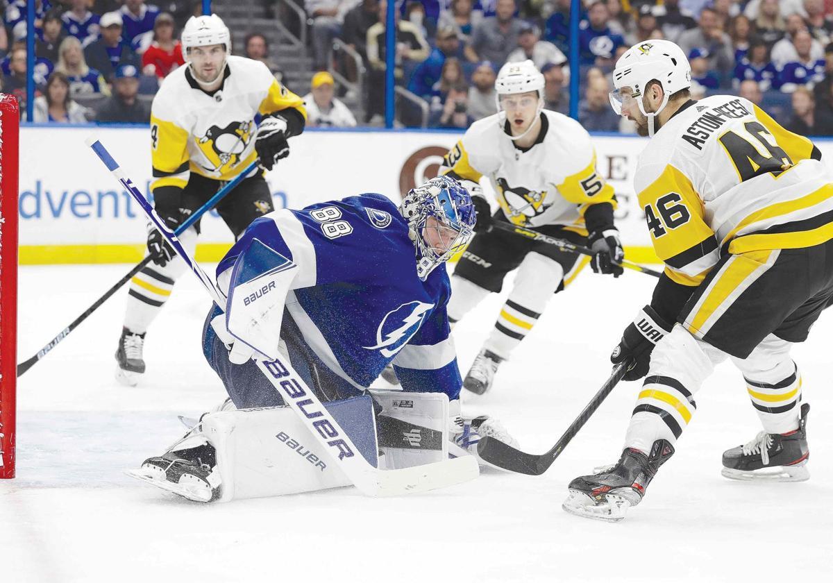 Penguins hit by Lightning
