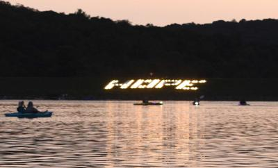 Night kayak event helps 'Shine a Light on Suicide'