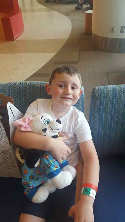 Franklin boy who has beaten cancer is 'paying it forward'