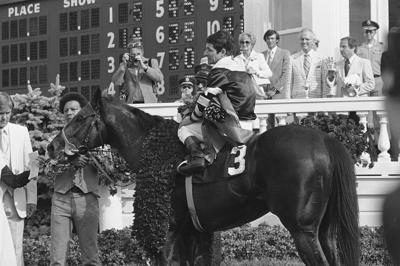 Seattle Slew secures the first jewel