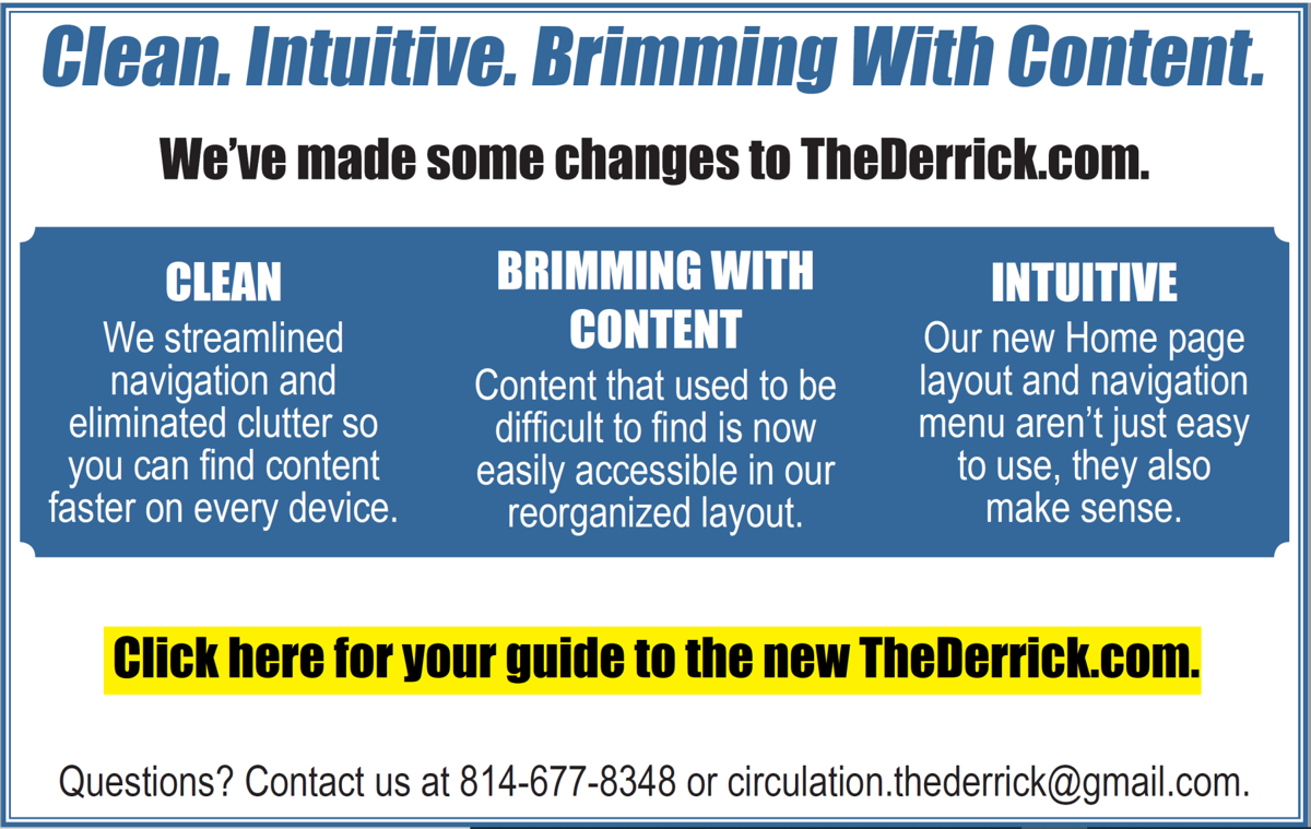 Your guide to the new TheDerrick.com