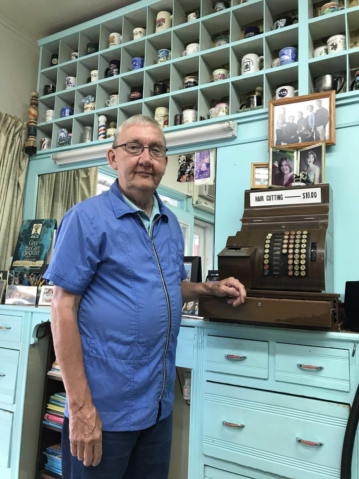 What's all the buzz? Knox barber marks 50 years of cutting hair