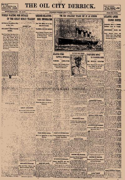2 women bound for OC died when Titanic sank