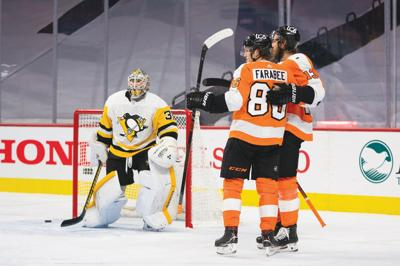Flyers top Penguins, 6-3, in NHL's return to play