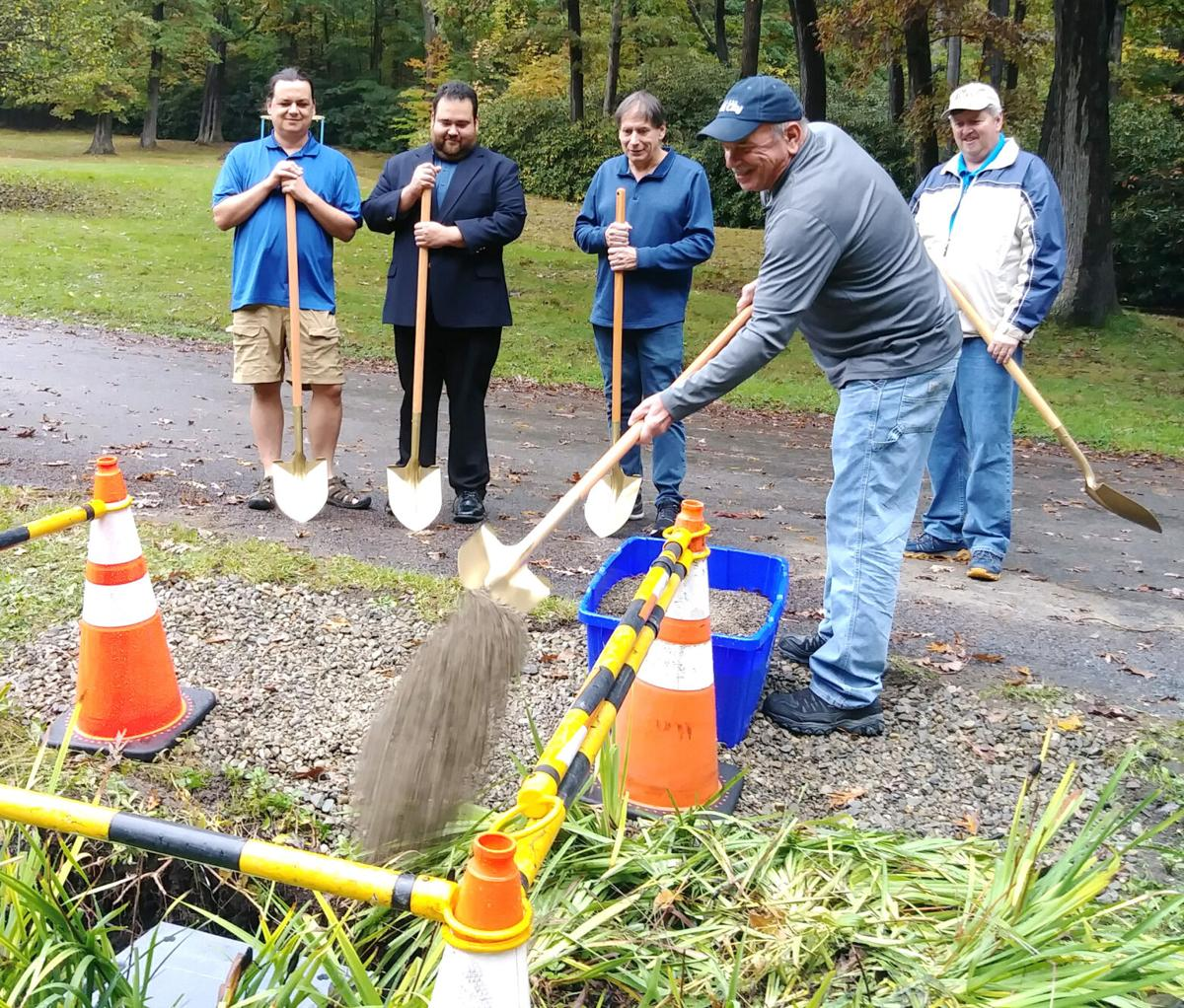 Burying the Oil City 150 time capsule