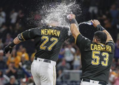 Newman walks it off