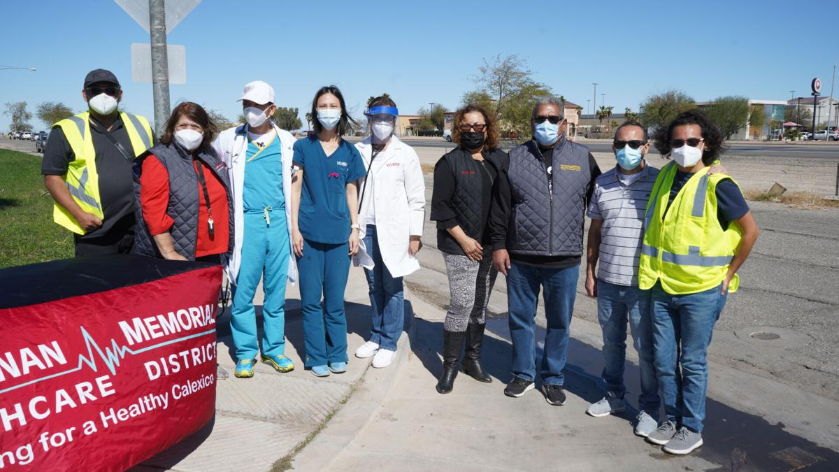 Calexico sees first mass COVID-19 vaccination clinic