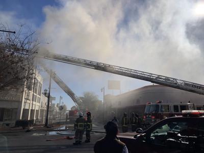 Brooks Jewlery building burns