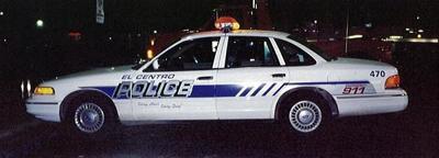 El Centro Police car