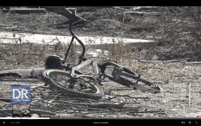 Burnt child's bike