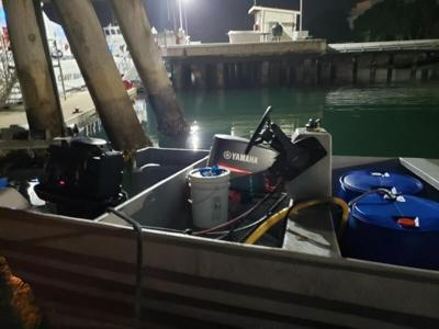 Panga with 20 onboard intercepted at sea