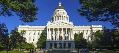 California State Capitol building, wide angle with trees
