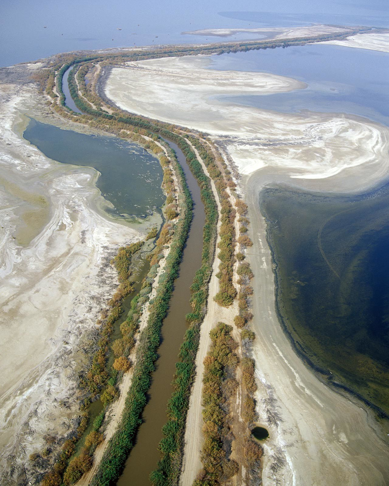 New River entering Salton Sea