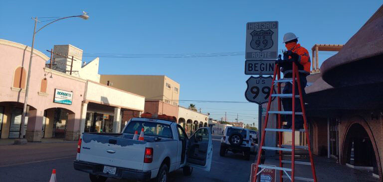 U.S. Route 99 Signs Replaced