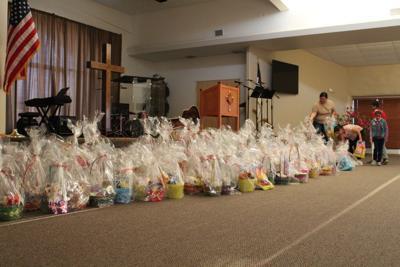 El Centro Calvary Chapel packs Easter Baskets for CASA Children