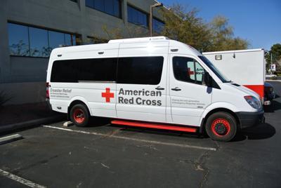 Red Cross emergency vehicle