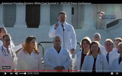 Dr. Brian Tyson at America's Frontline Doctors' White Coat Summit 2