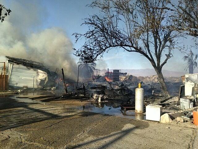 Desert Shores Trailer Park fire_1