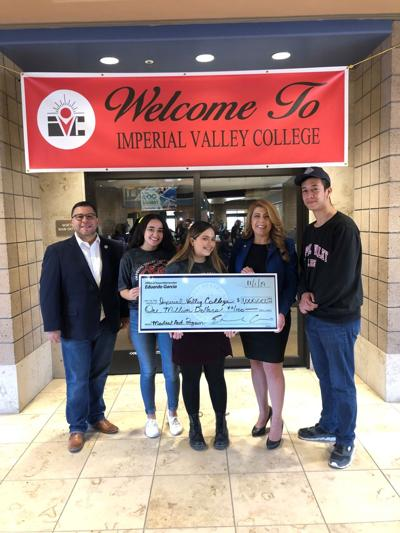 Imperial Valley College recently received $1 million from the state
