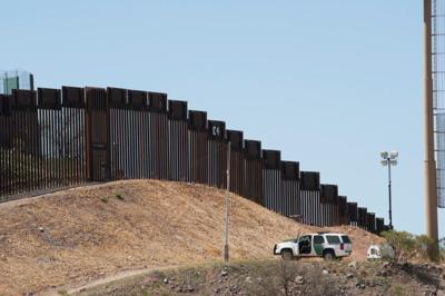 Border Fence and Patrol in Nogales, Arizona