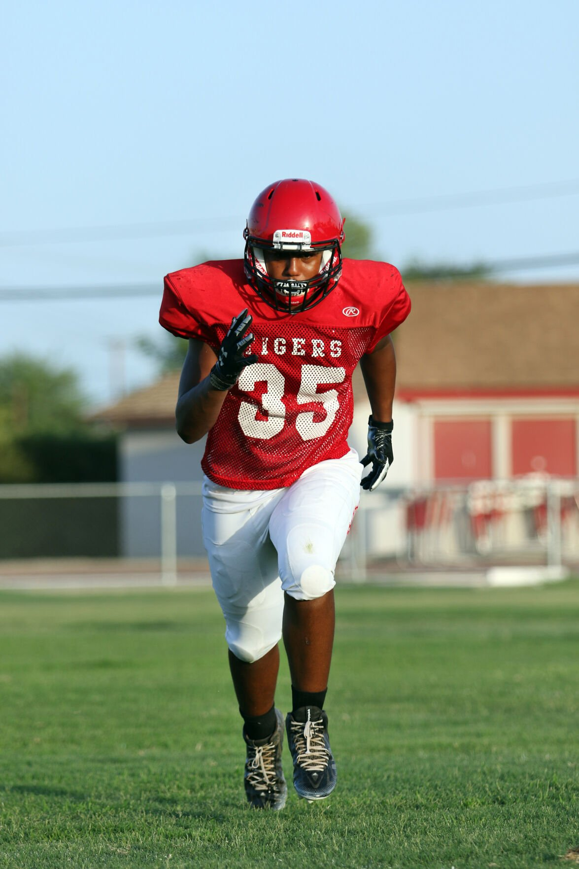 Imperial High Football--Jeremiah Naylor, 17, Outside Line Backer