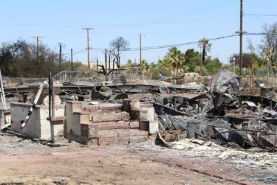 Niland fire aftermath