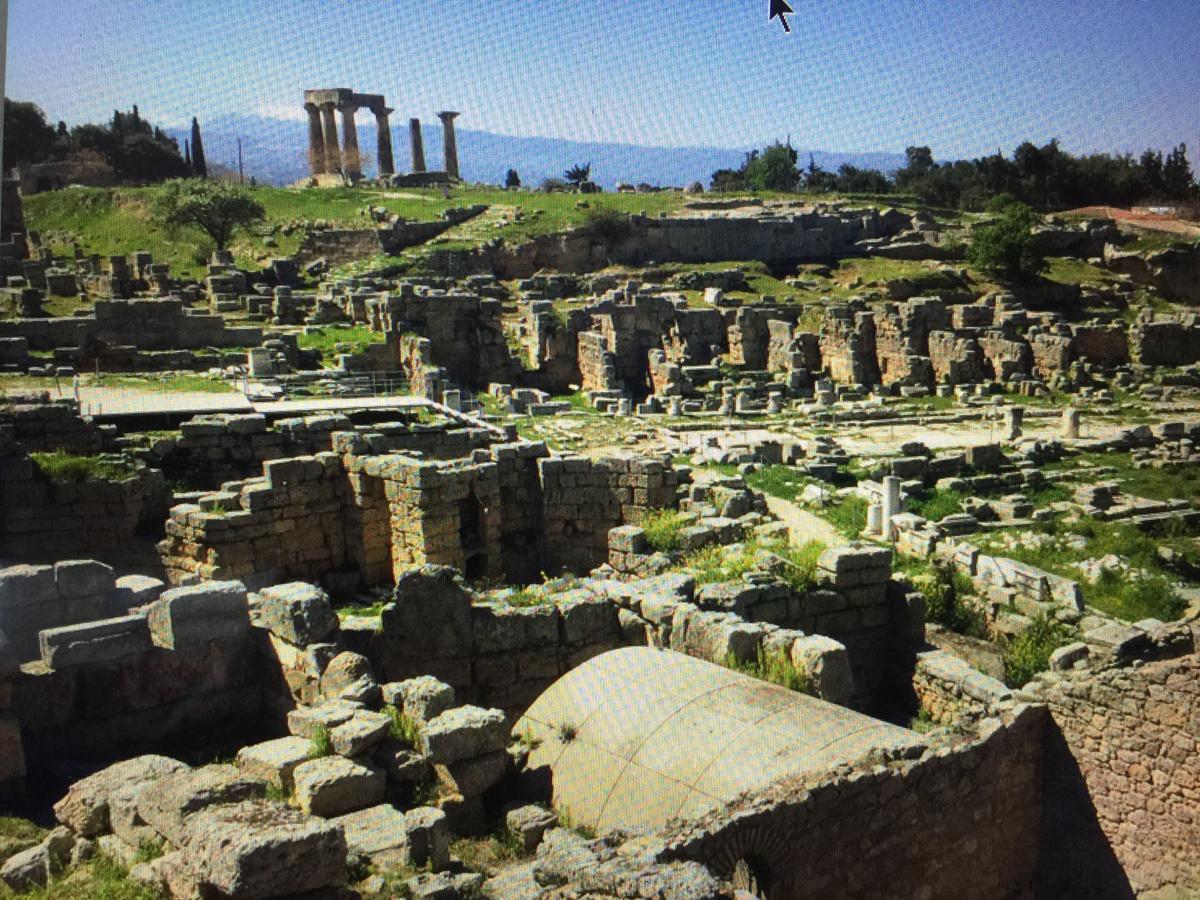 Panoramic view of Corinth