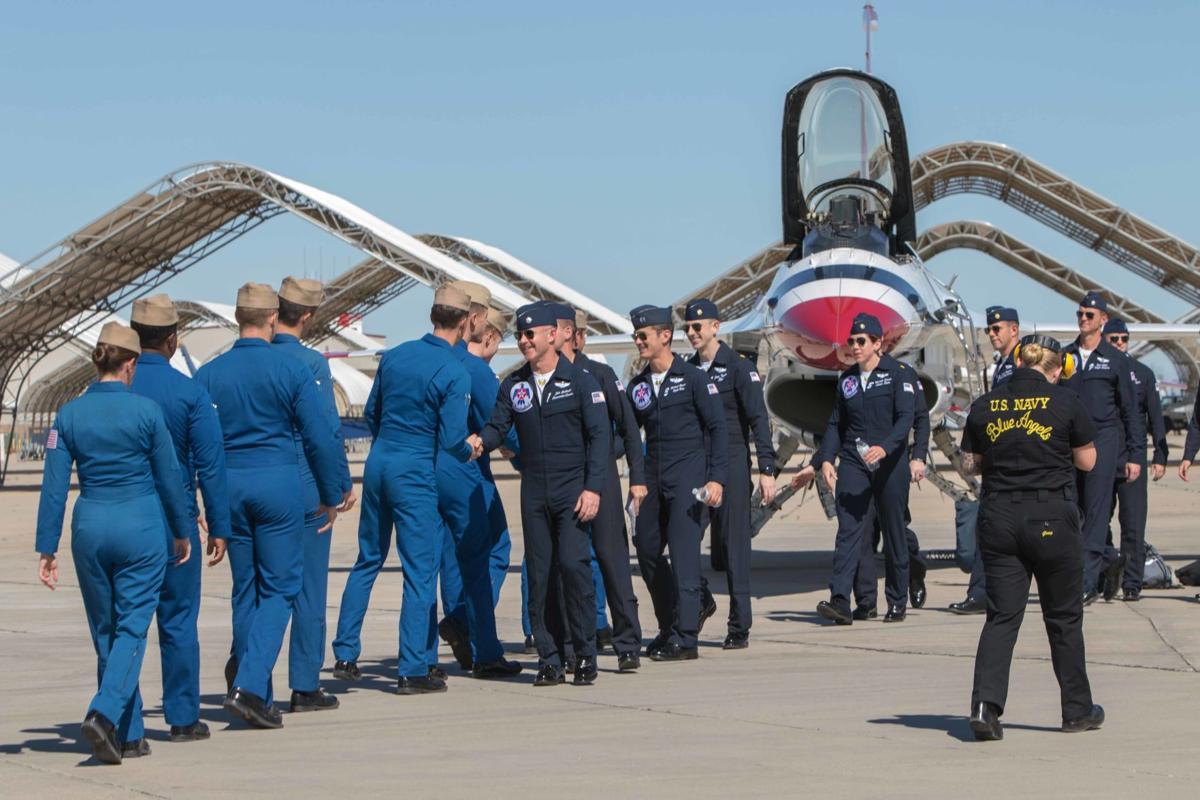 Thunderbirds visit the Blue Angels