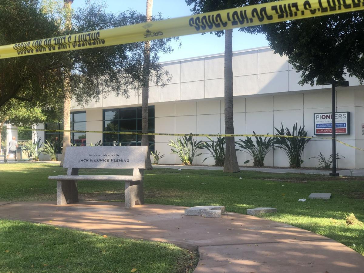 Driver crashes into PMH Building