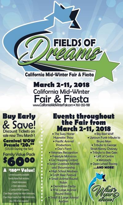 Field of Dreams- Cal Mid Winter Fair and Fiesta