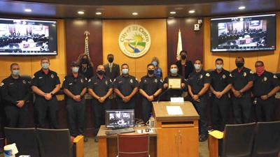 El Centro City council members honor firefighters
