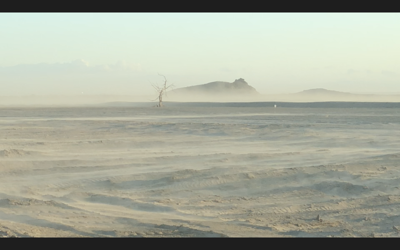 Salton Sea dust blowing