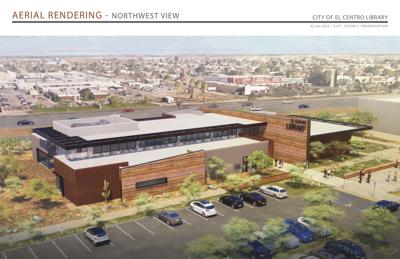 Rendering of the City of El Centro Library