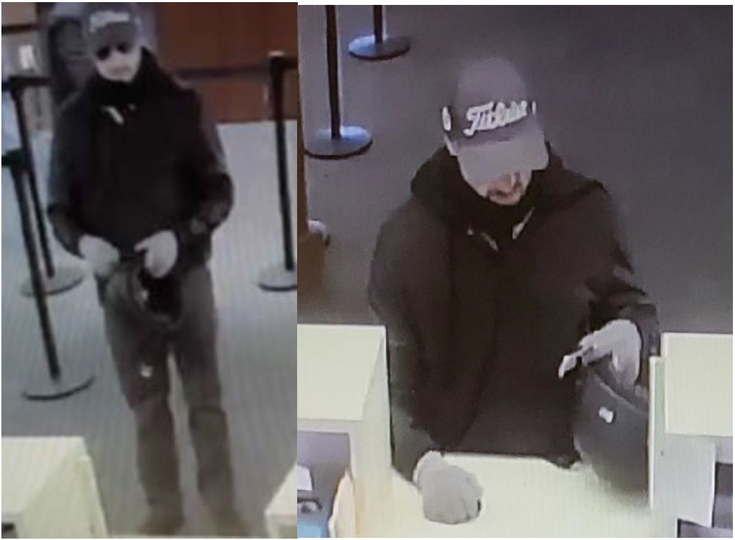 FBI Requests public assistance to identify gloved robber carrying motorcycle helmet