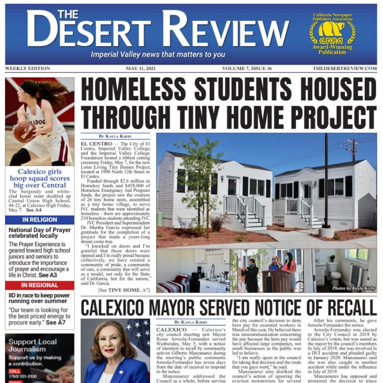 The Desert Review Vol. 7 Issue 36