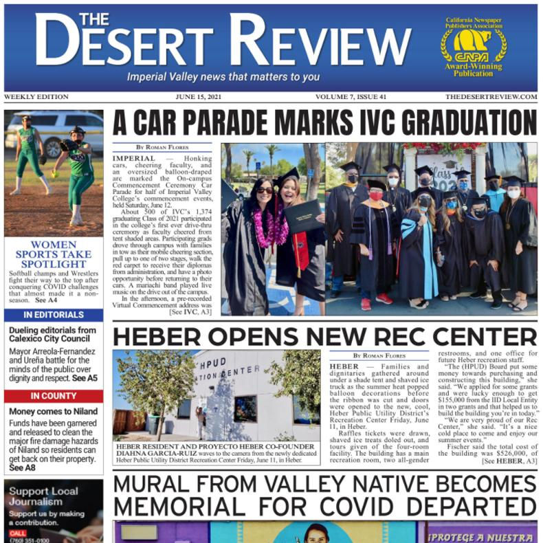 The Desert Review Vol. 7 Issue 41