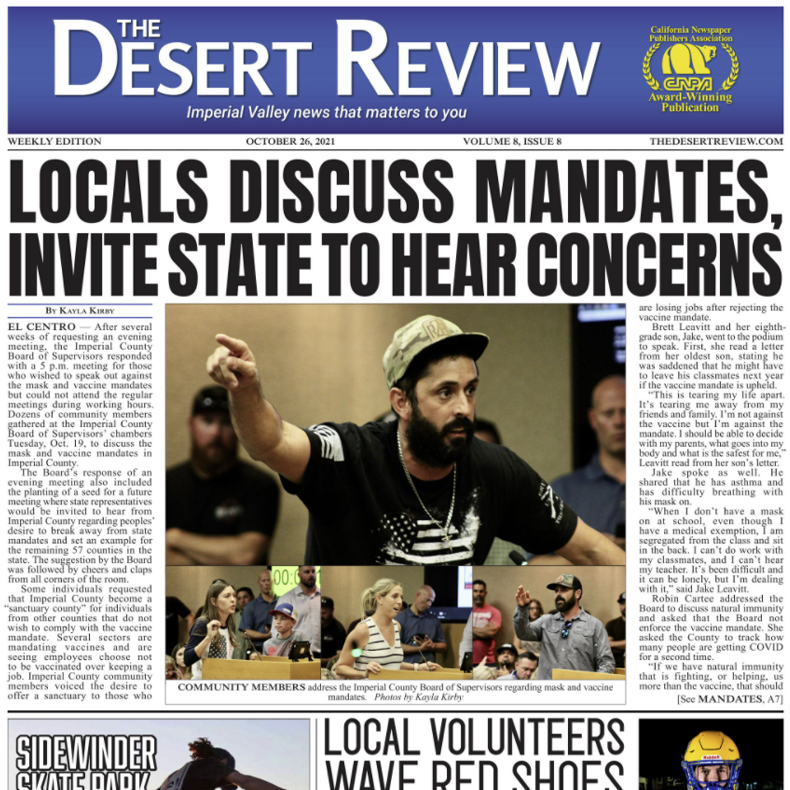 The Desert Review Vol. 8 Issue 8