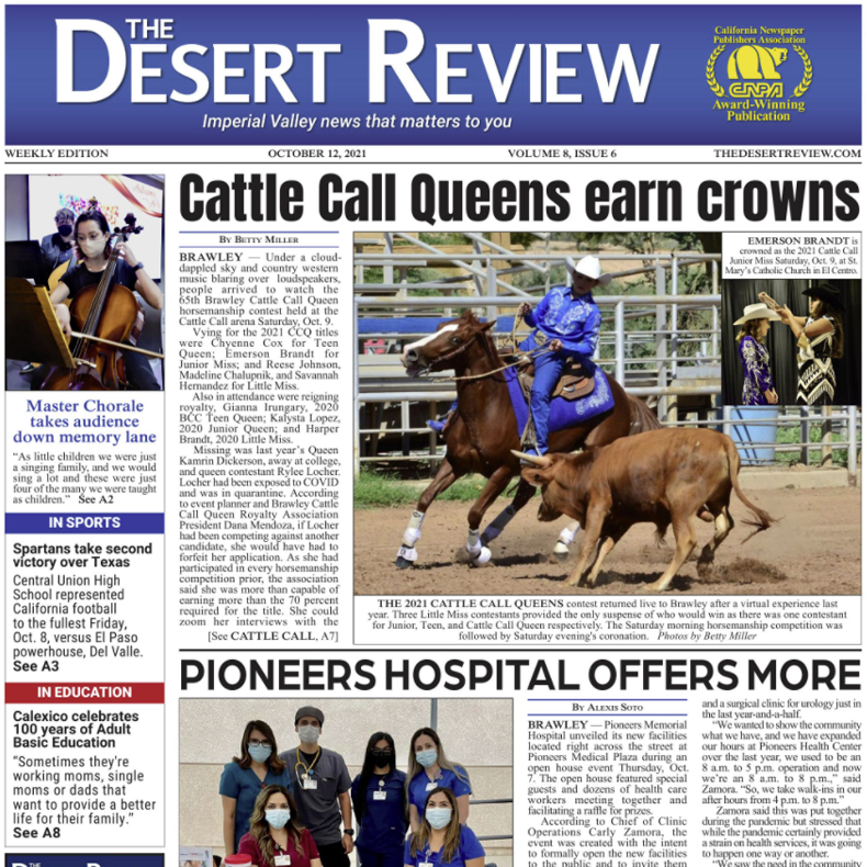 The Desert Review Vol. 8 Issue 6