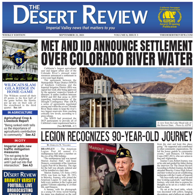 The Desert Review Vol. 8 Issue 3