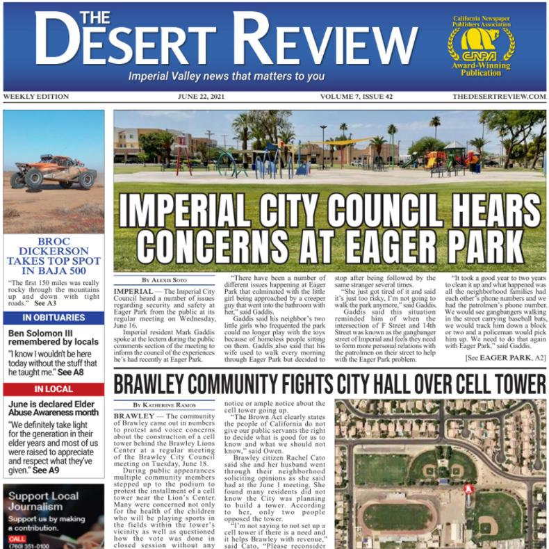 The Desert Review Vol. 7 Issue 42