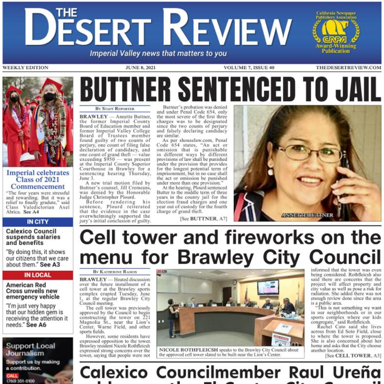 The Desert Review Vol. 7 Issue 40