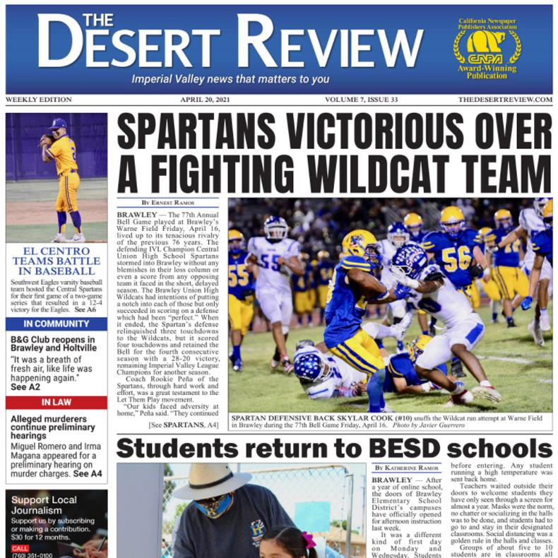 The Desert Review Vol. 7 Issue 33