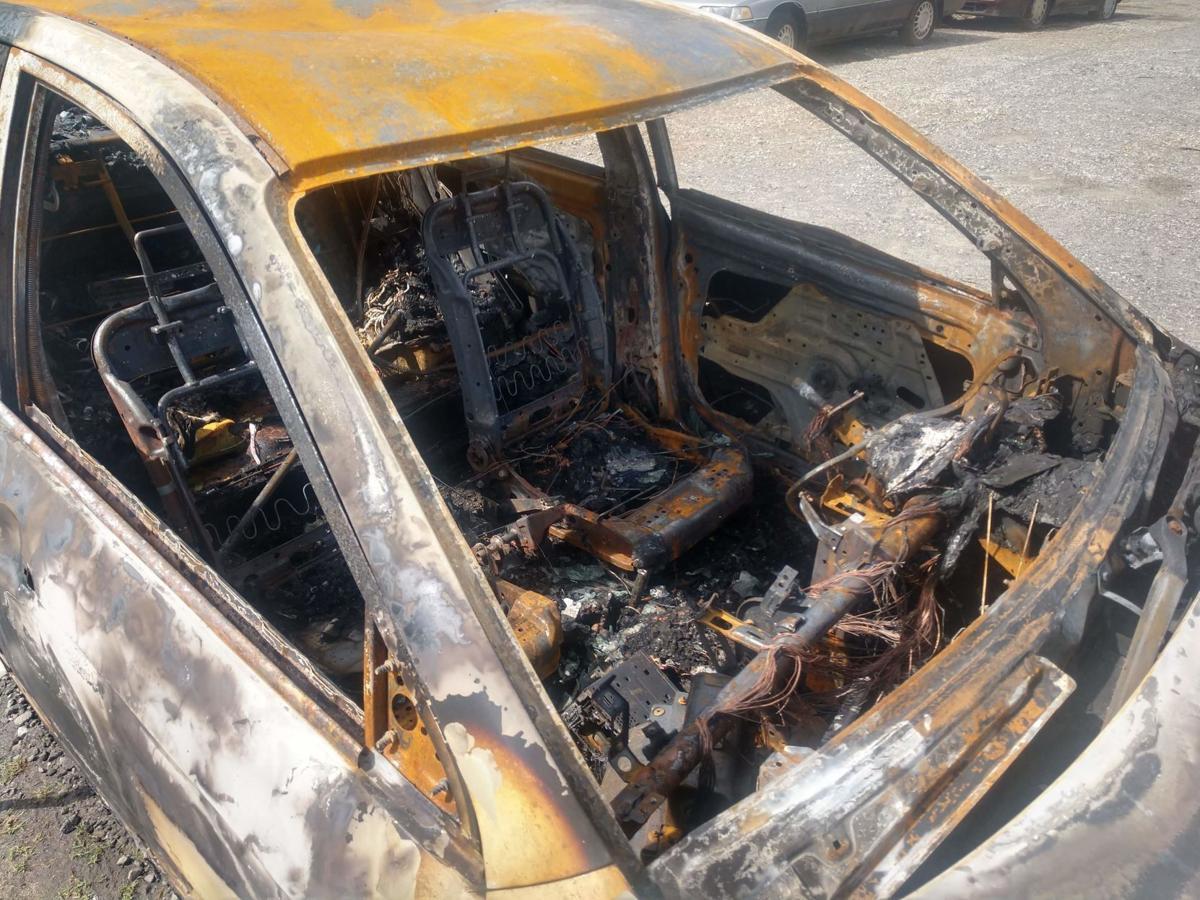 Burned Kia
