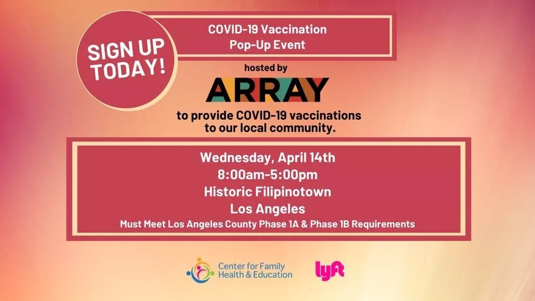 ARRAY COVID-19 Vaccination Pop-Up image 1