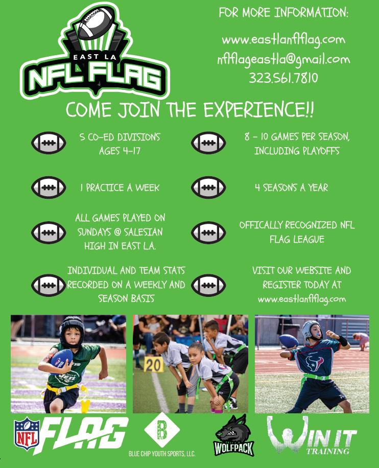 NFL Flag Footbally flyer
