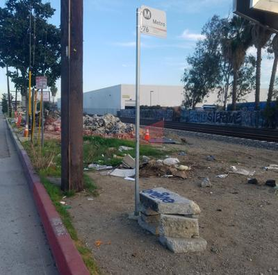 The saddest bus stop in El Sereno